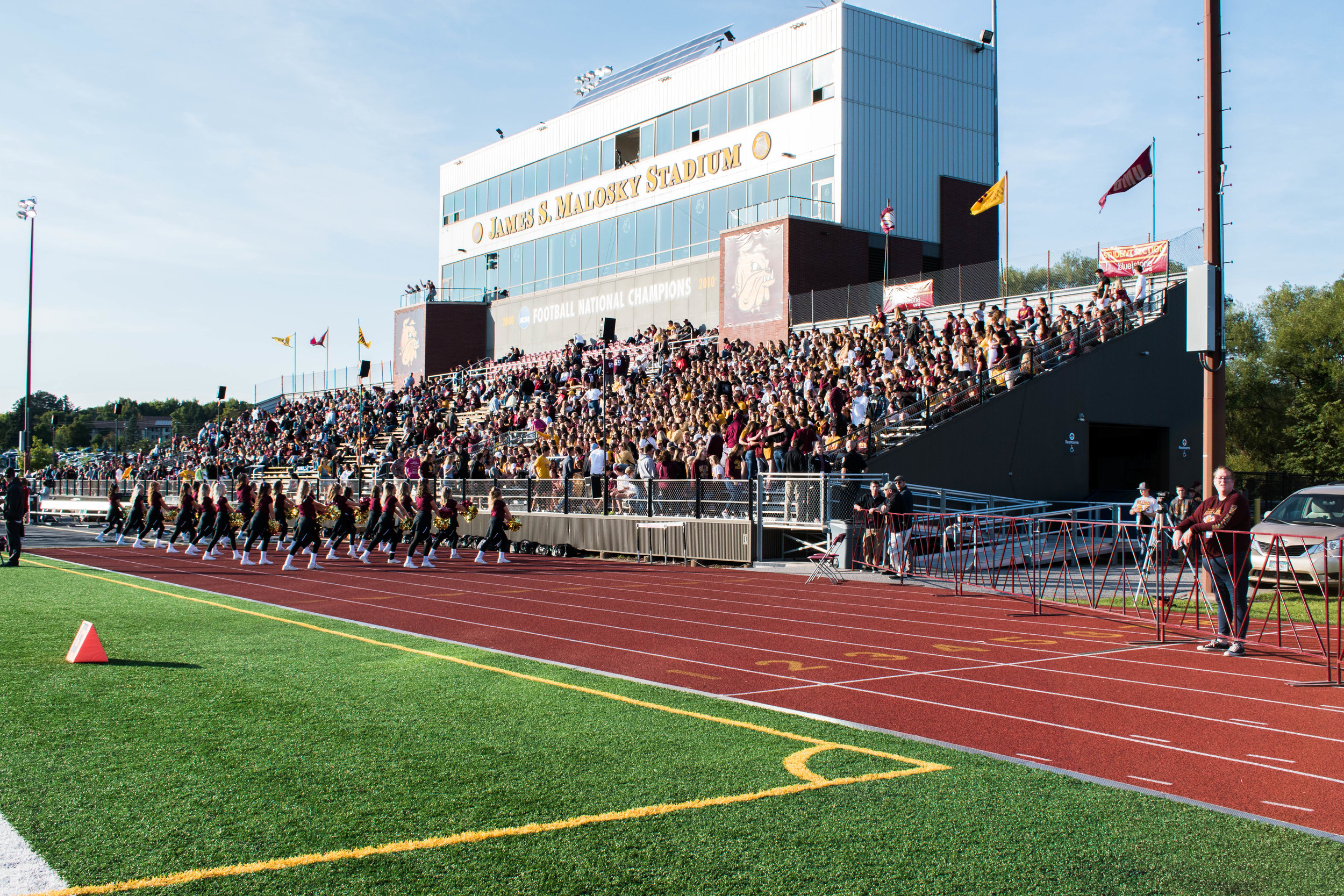 Fans gather in the stands during the opening game of this season. Photo by: Kari Kruse