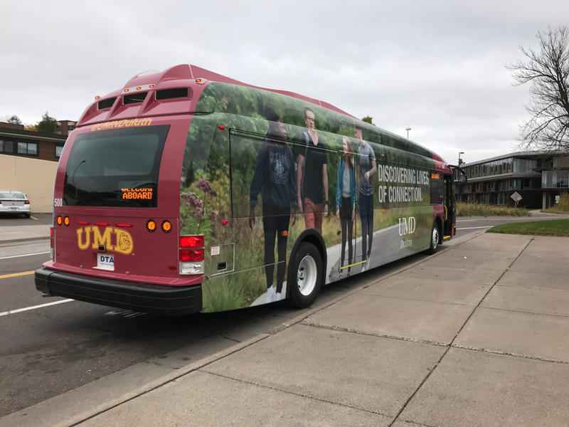 The new electric bus. Photo courtesy of  WDIO .