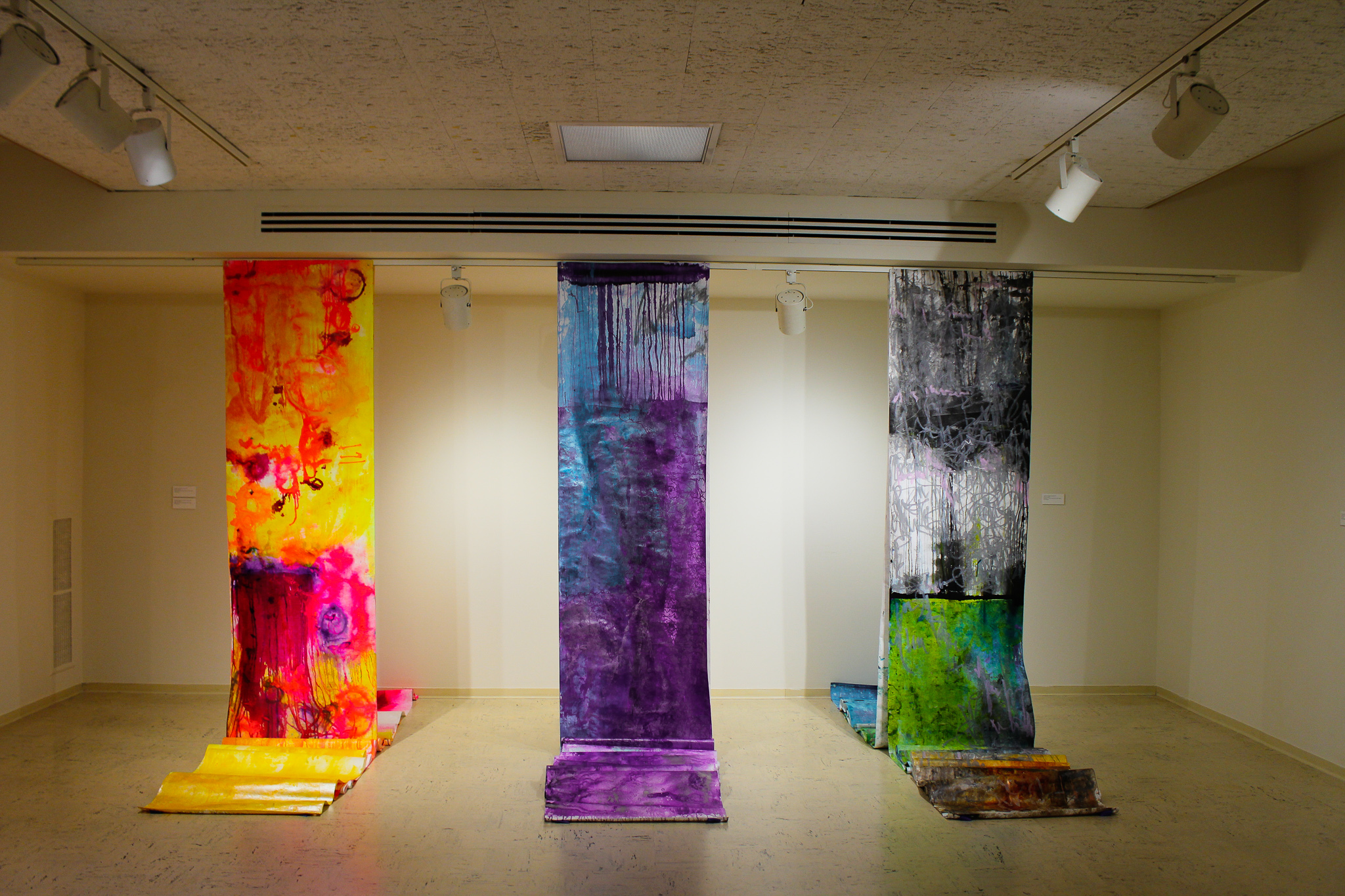Scroll made for Russia inspired by Duluth (Left), Ohara Isumi-City (Middle), and Vaxjo (Right). Photo by Morgan Pint