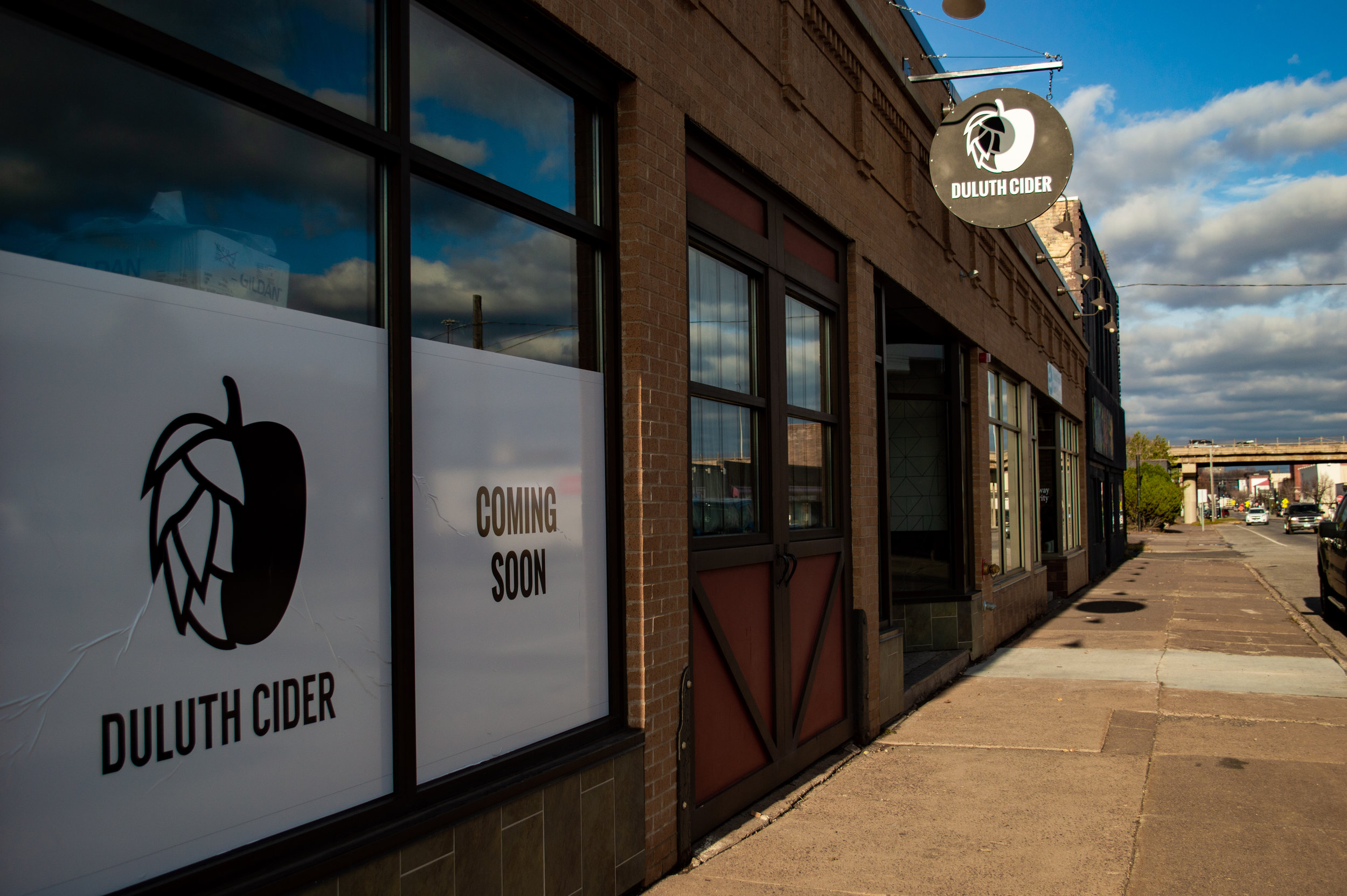 Outside of Duluth Cider located on W Superior St. Photo by: Jake Barnard