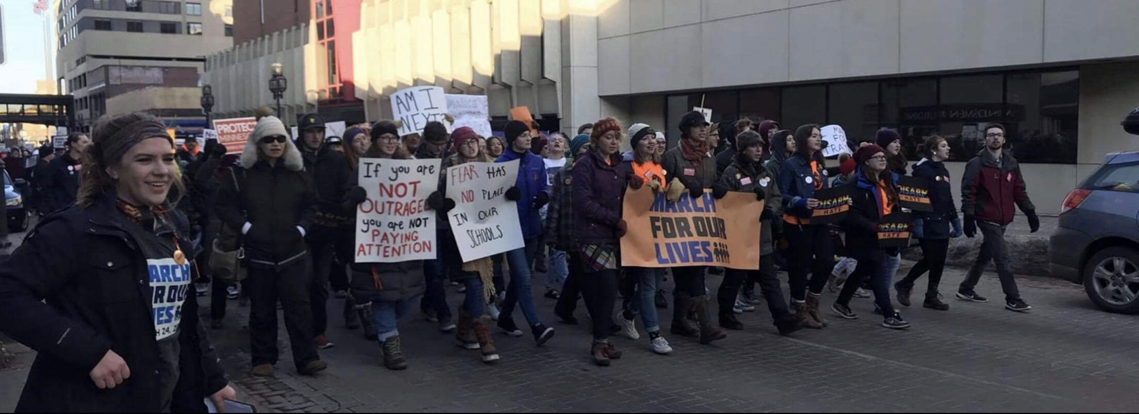 Mary Franz participates in numerous local movements, like the March For Our Lives Event pictured here. Photo courtesy Mary Franz