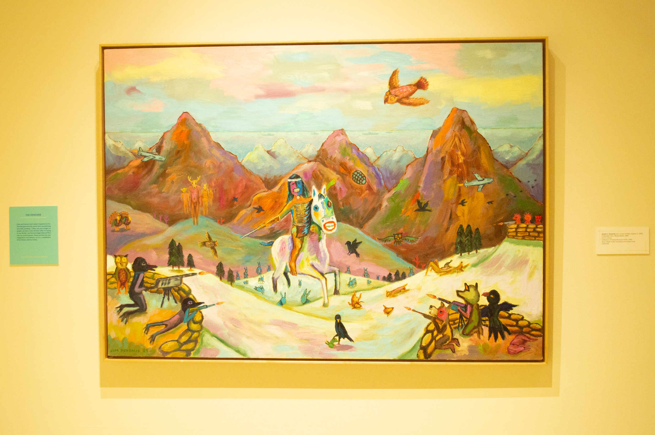 A Painting by Ojibwe artist Jim Denomie. Photo by Jake Barnard