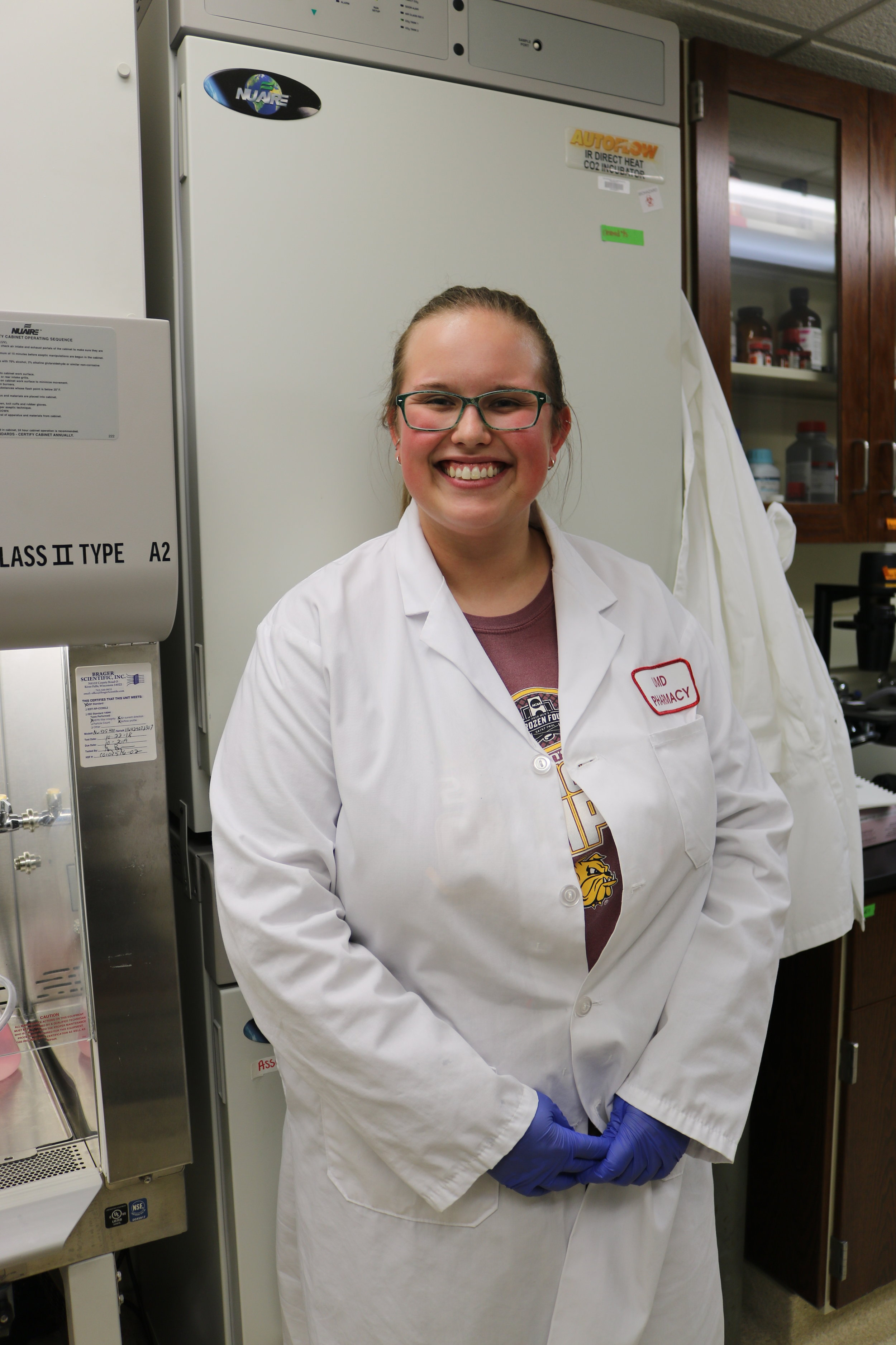 Kaija Kottke in the lab on Nov. 12, 2018. Kottke has been working in the lab for three years. Photo by Brianna Taggart
