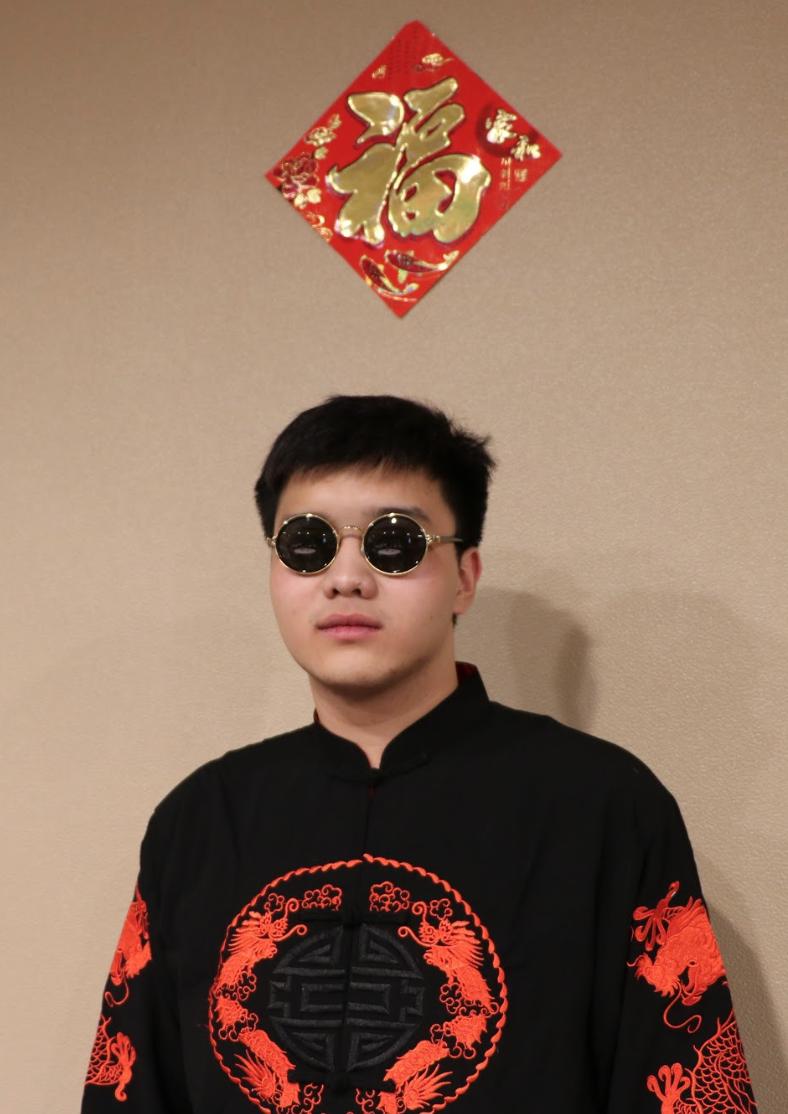 Qiyu Yang, a CSSA member wearing traditional Chinese wear. Photo by Jakob Bermas