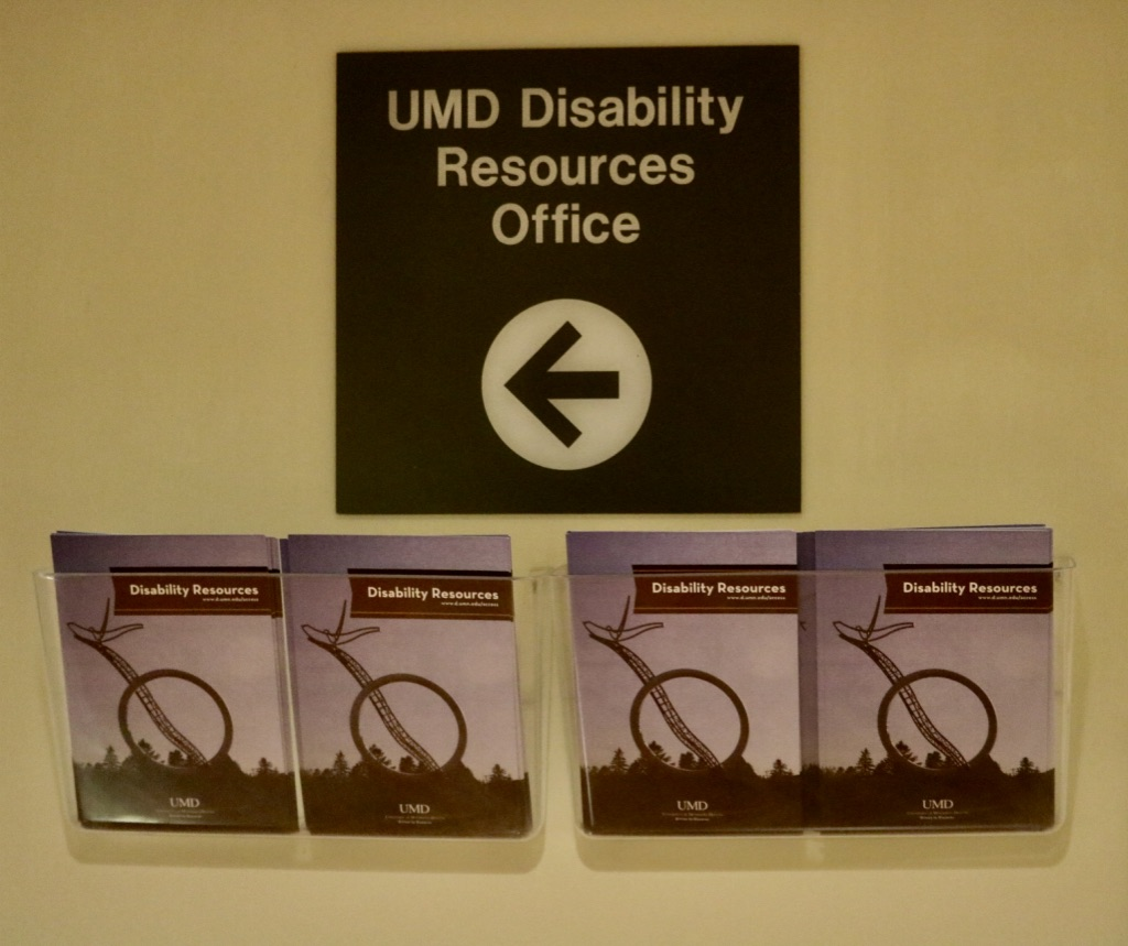 Located within the Multicultural Center is UMD Disability Resources. Photo by Madison Hunter
