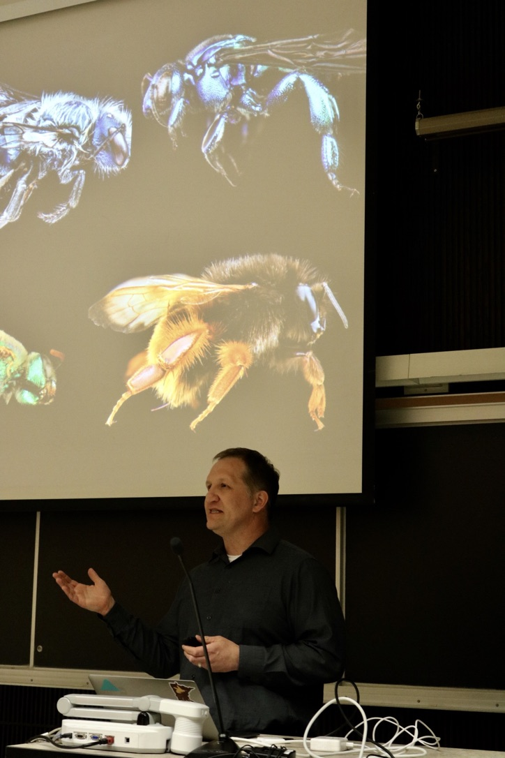 Dr. Cariveau speaking about pollinators. Photo by Madison Hunter.