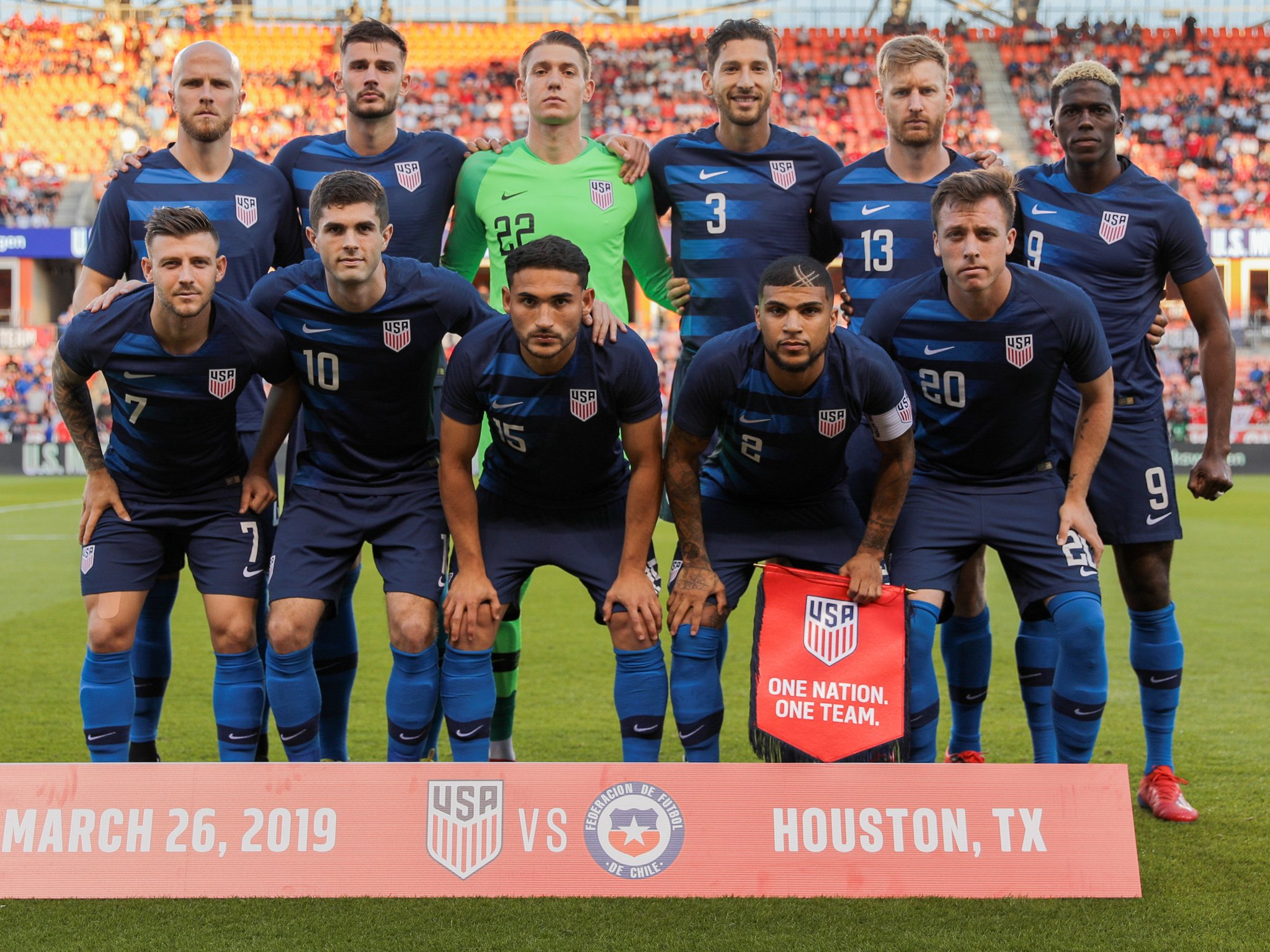 A recent iteration of the US Men's National Team, Photo Courtesy of USMNT