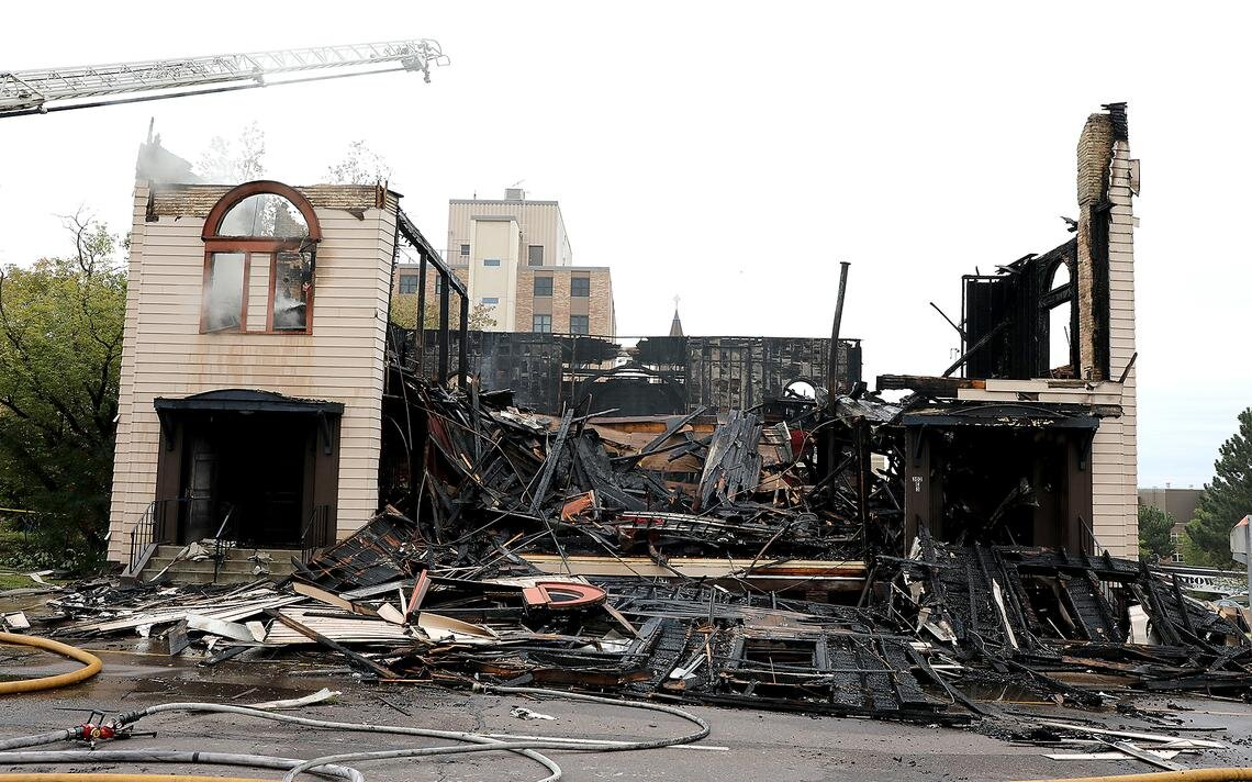 The remains of the Adas Israel Congregation Synagogue in Downtown Duluth which originally appeared on the Duluth News Tribune's  site . Photo by Jed Carlson of Forum News Service