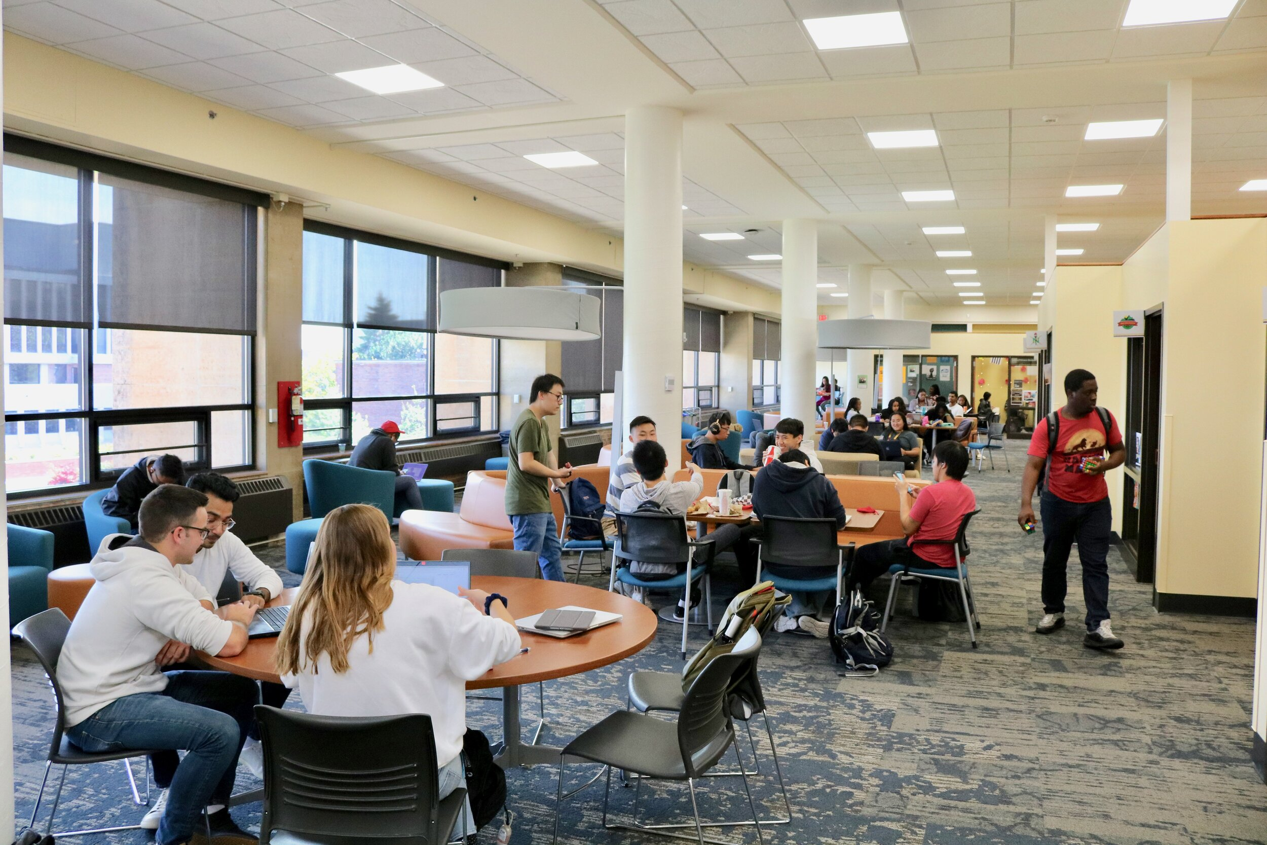 The new design of the Multicultural Center was created with students in mind. The space was completely renovated and comes equipped with brand new furniture, new decor, original art by artist  Jimmy Longoria , new office space, study lounges and so much more. Photo courtesy Kirby Student Center