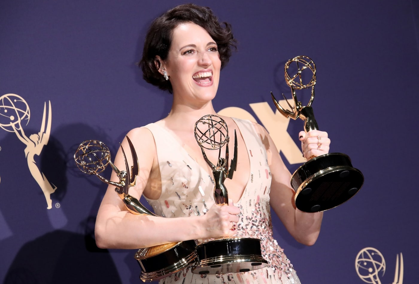 Phoebe Waller-Bridge (pictured) was by far one of the biggest surprises and winners on the night, winning three awards  Photo courtesy of CNBC, who got it from Dan Macmedan from Wire Image
