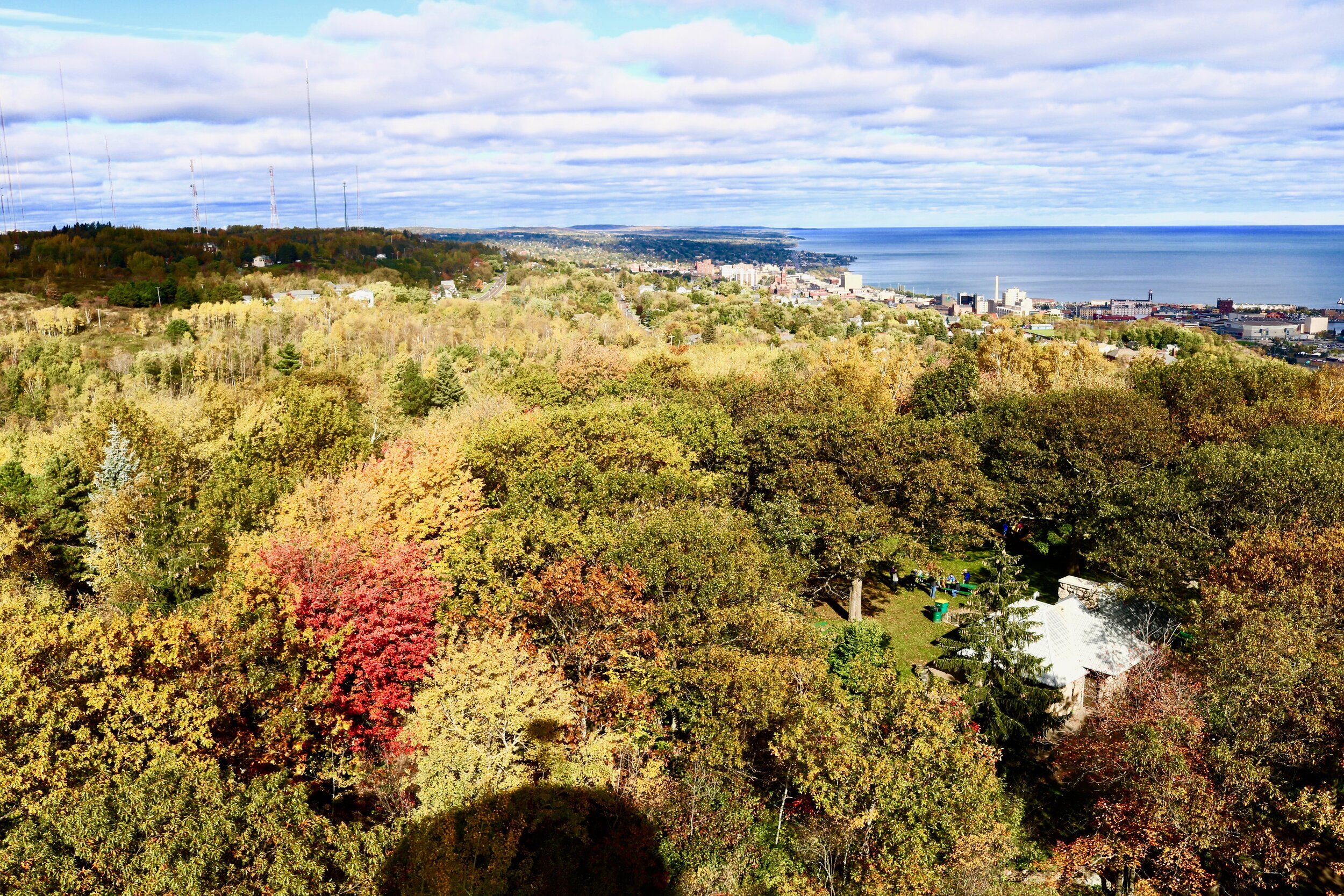 The view from the top of Enger Tower. Photo by Brianna Taggart