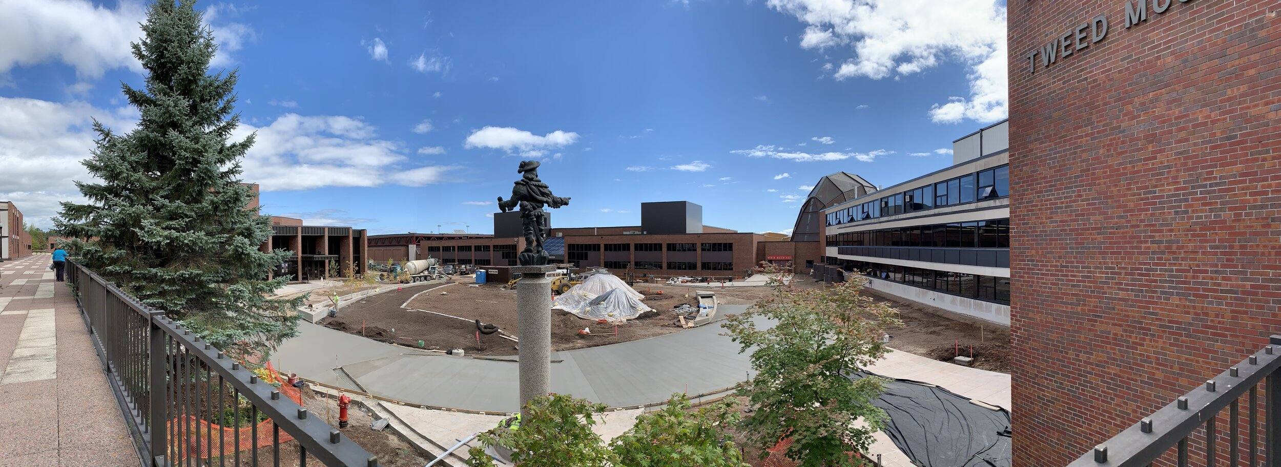 Ordean Court undergoing construction. Photo by Zack Benz