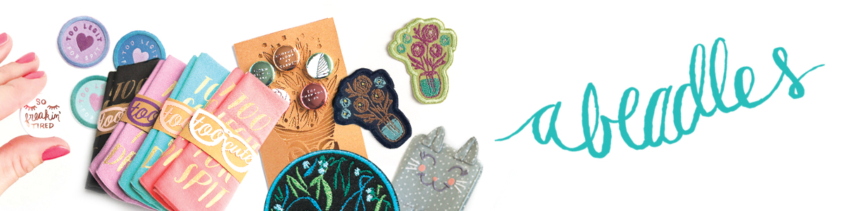 Amanda Stumpenhorst of Abeadles: Mother of two, sewing enthusiast, product designer and illustrator. Cute and funny gifts for your mom friends! Come check out my line of Mom Badges. Located in northern Illinois in Ashton, IL    Connect with amanda:    shop    +    Instagram