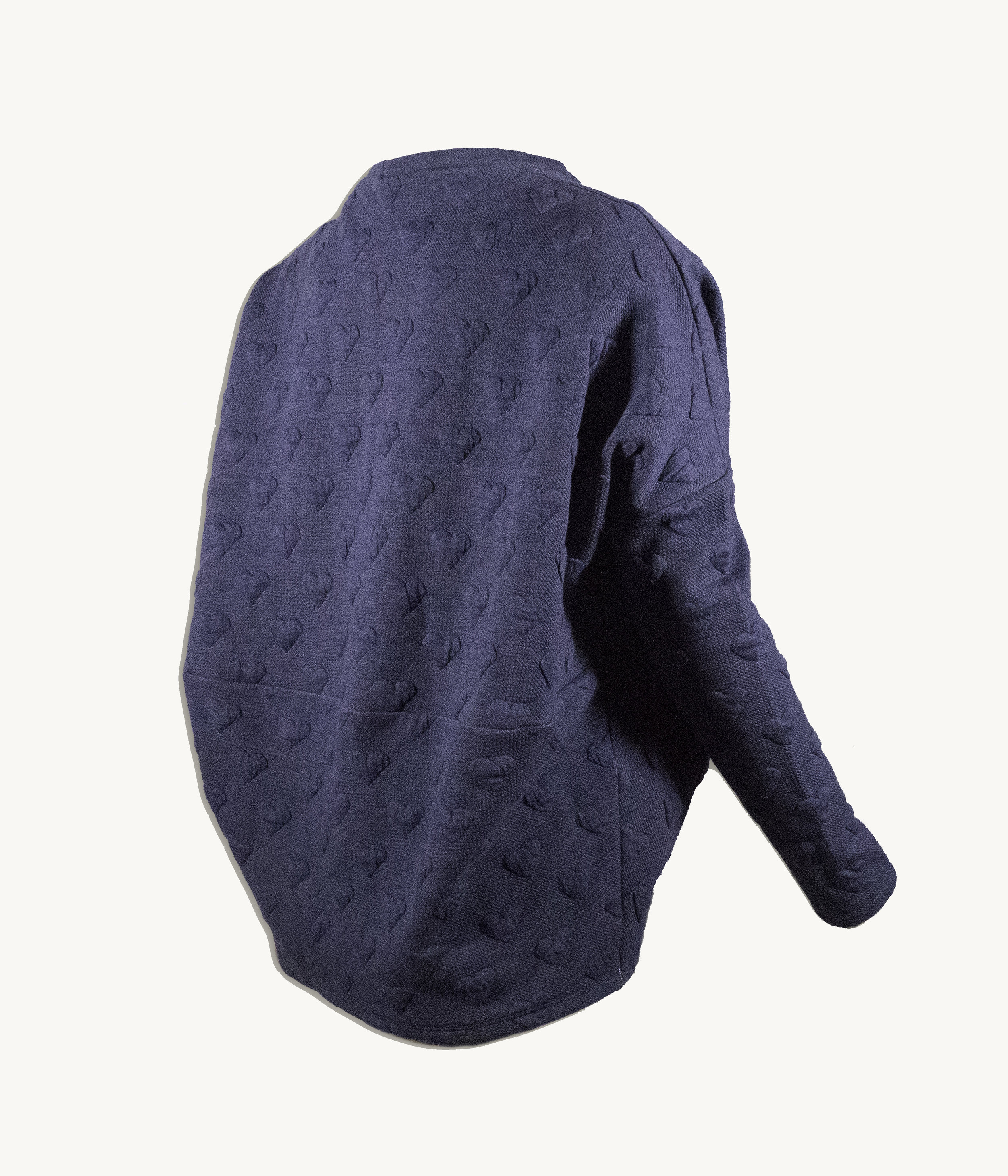 Back view of the Slate Blue color option in size Small.