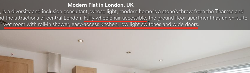 Insert on the descritption of the home detailing accessibility.