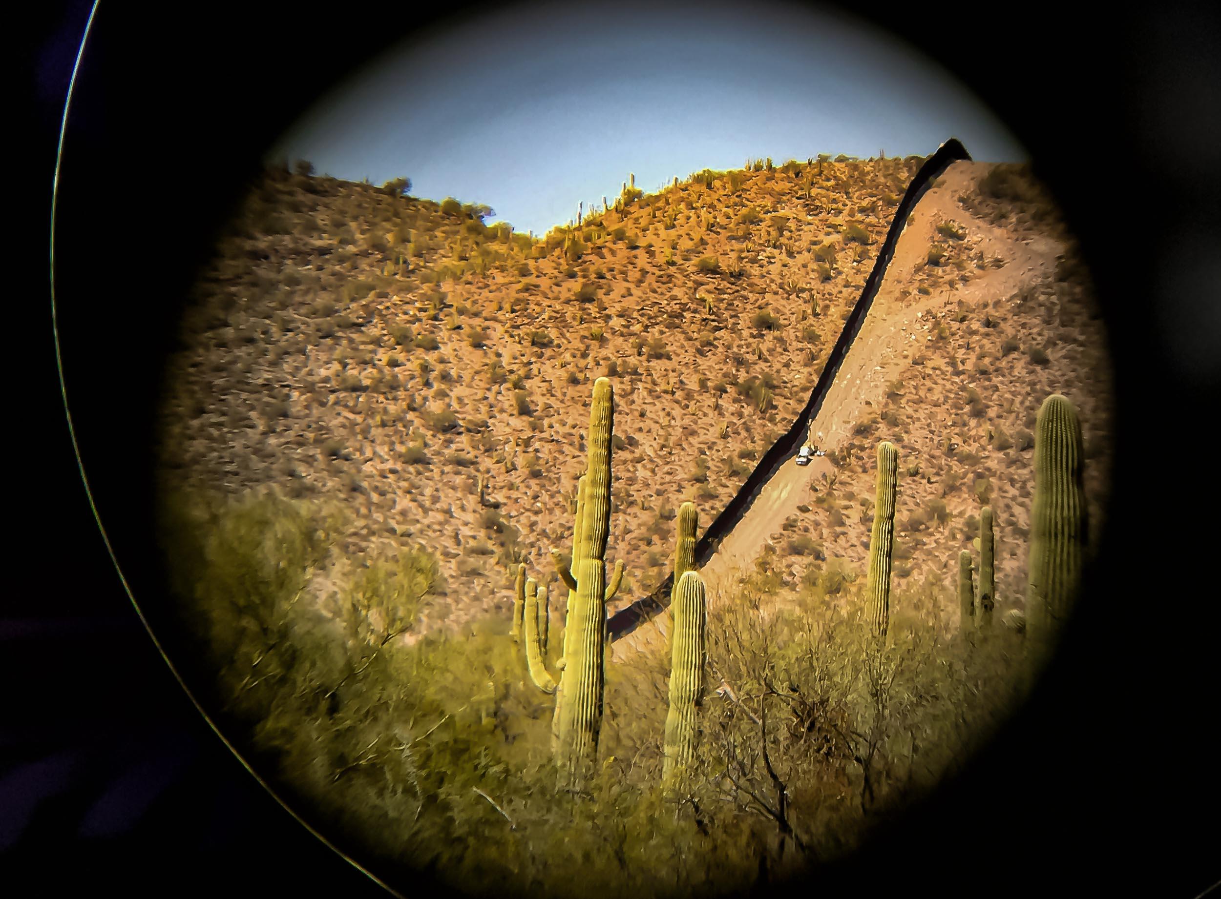 Border fence,  Lukeville, AZ