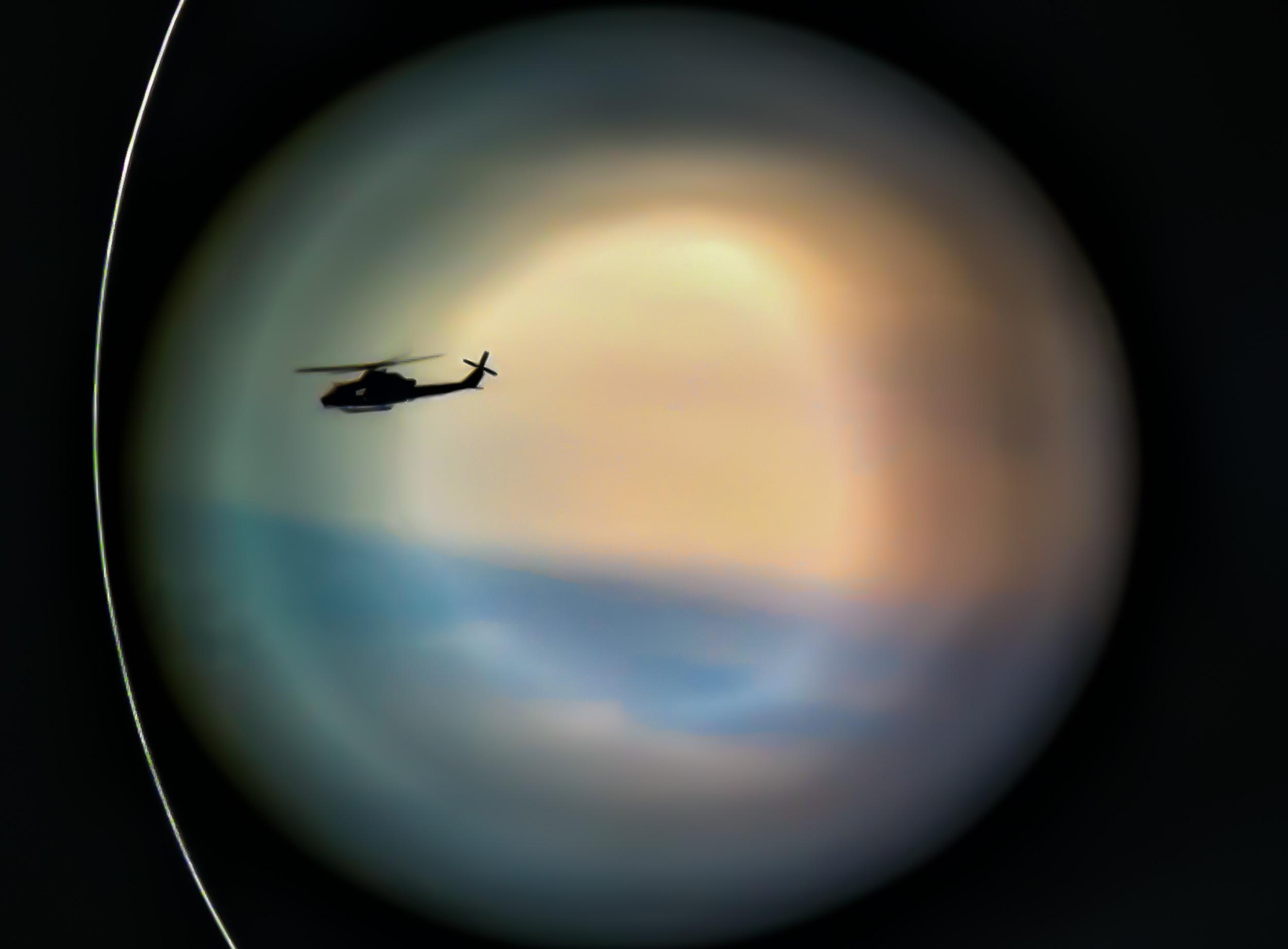 Border Patrol helicopter, San Diego, CA