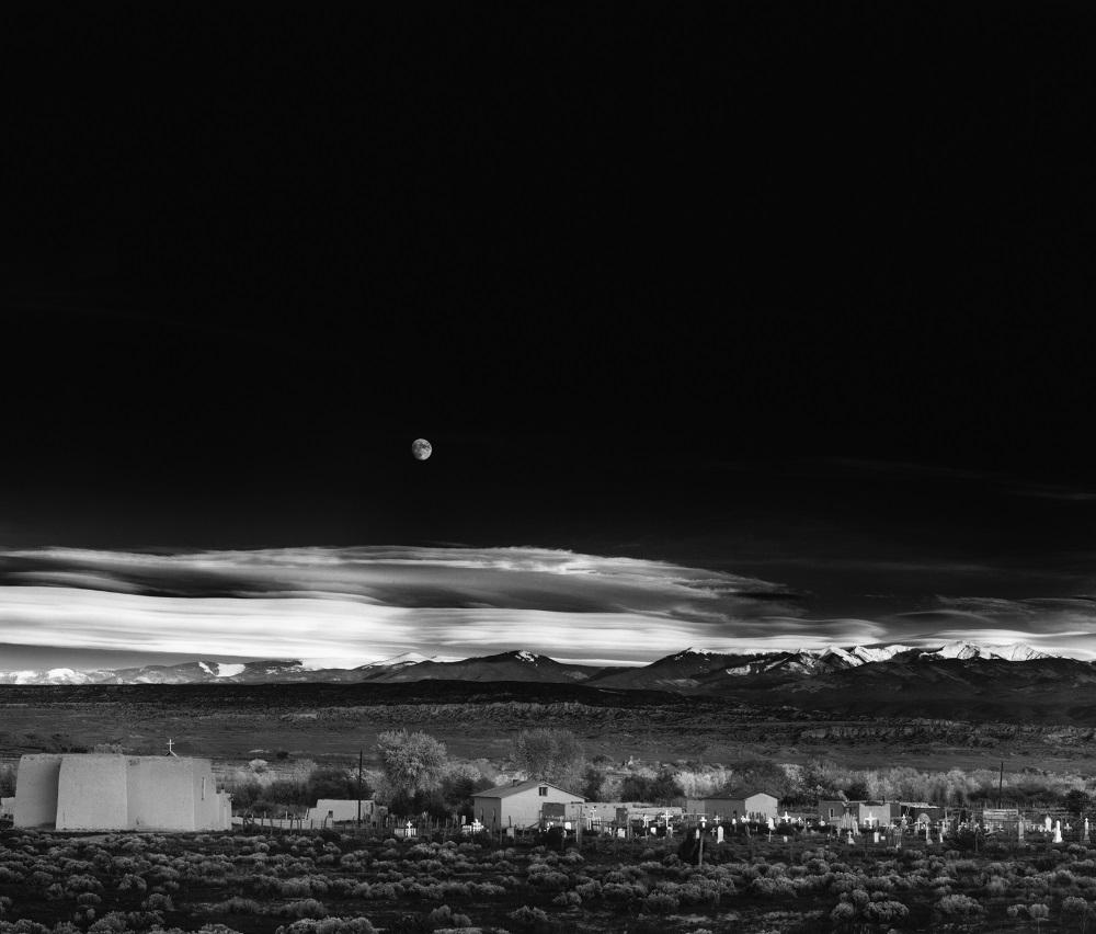 Ansel Adams:Moonrise, Hernandez, New Mexico