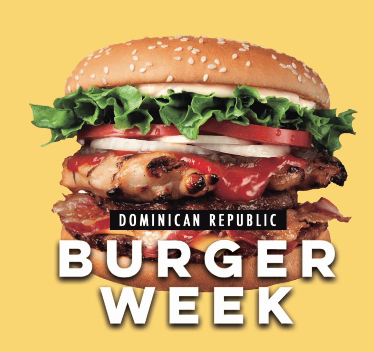 DR Burger Week  | 18-24 de marzo: diferentes eventos y locaciones en Santo Domingo.