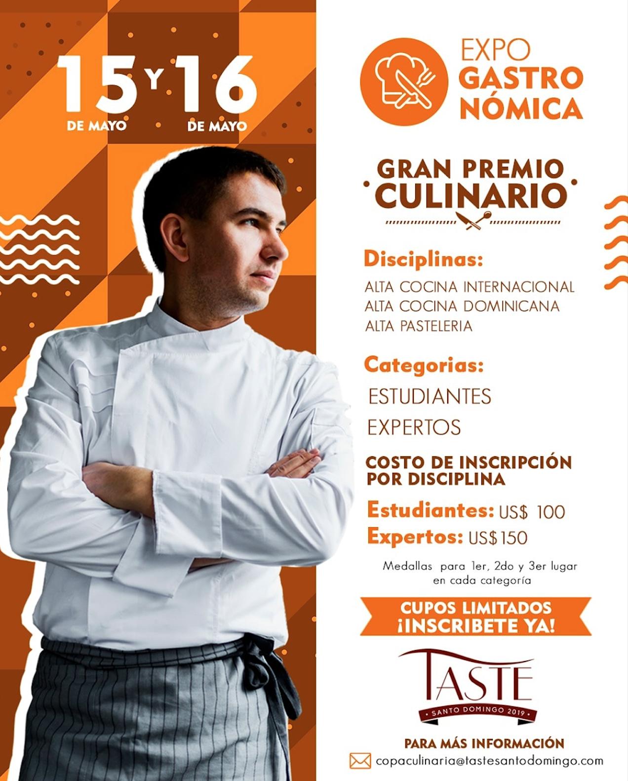 CONVOCATORIA: Expo Gastronómica | 15 y 16 mayo, 2019, Santo Domingo. RD.