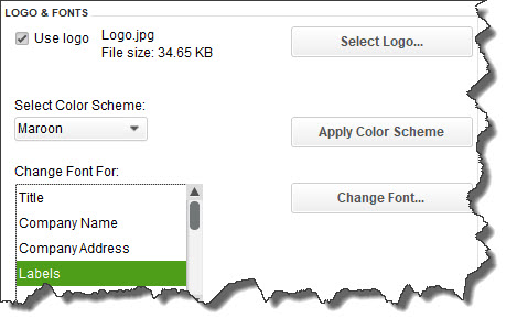 You can personalize your QuickBooks forms and make them consistent with any design themes your brand may use.
