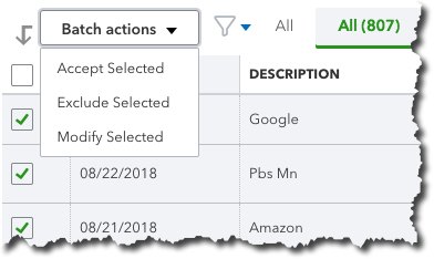 You can save time by using QuickBooks Online's  Batch Actions  tool.