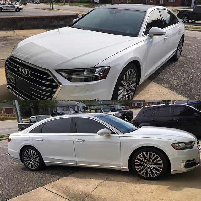 Audi's just look great with LLumar Window tint don't they? This 2019 Audi A8 doesn't disappoint, receiving full Ceramic and AirBlue 80! Thanks for trusting us with your investment! Veteran Owned and Veteran Operated! Call us for your tinting needs.  910-506-8468 (TINT) www.InvictusAA.com @audi @llumarfilms @audi.followers @a8_club #carsdaily #eurocars #vetrepreneur #veteranowned #veteranownedandoperated #audicarsworld