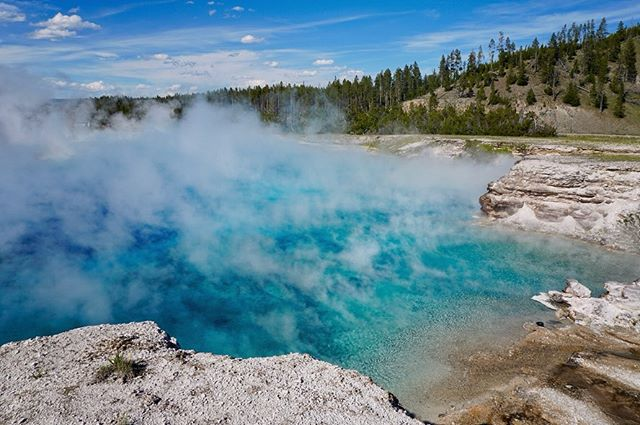 The prismatic pools of Yellowstone did not disappoint! 😍 #isthisreallife