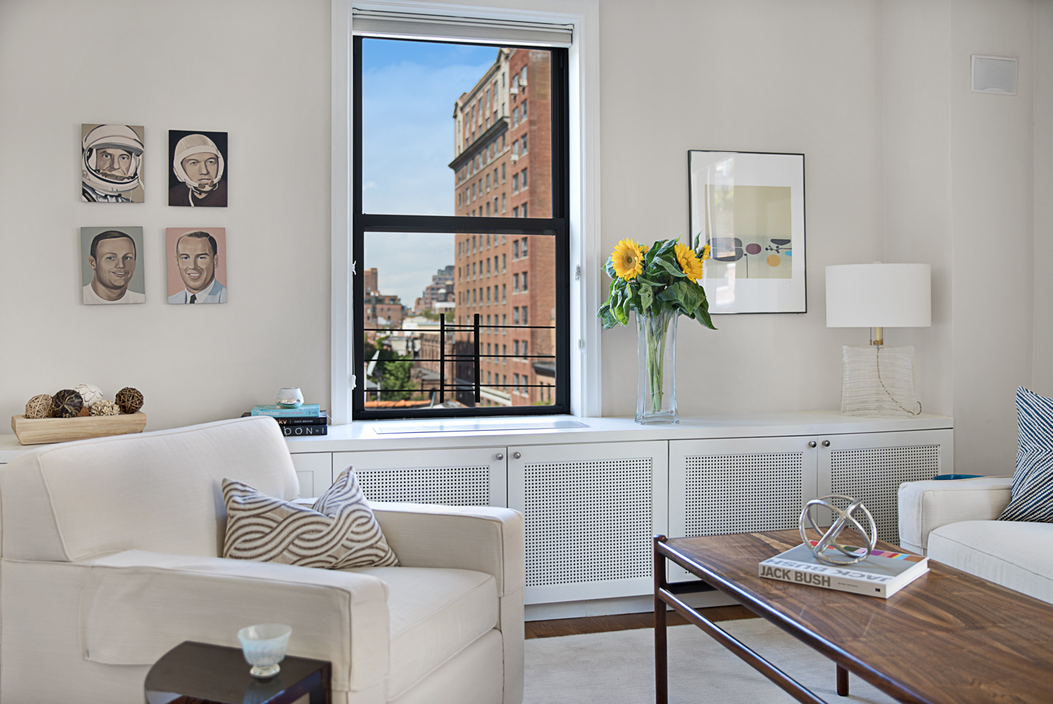 Living Room Detail, Residence in Greenwich Village NYC