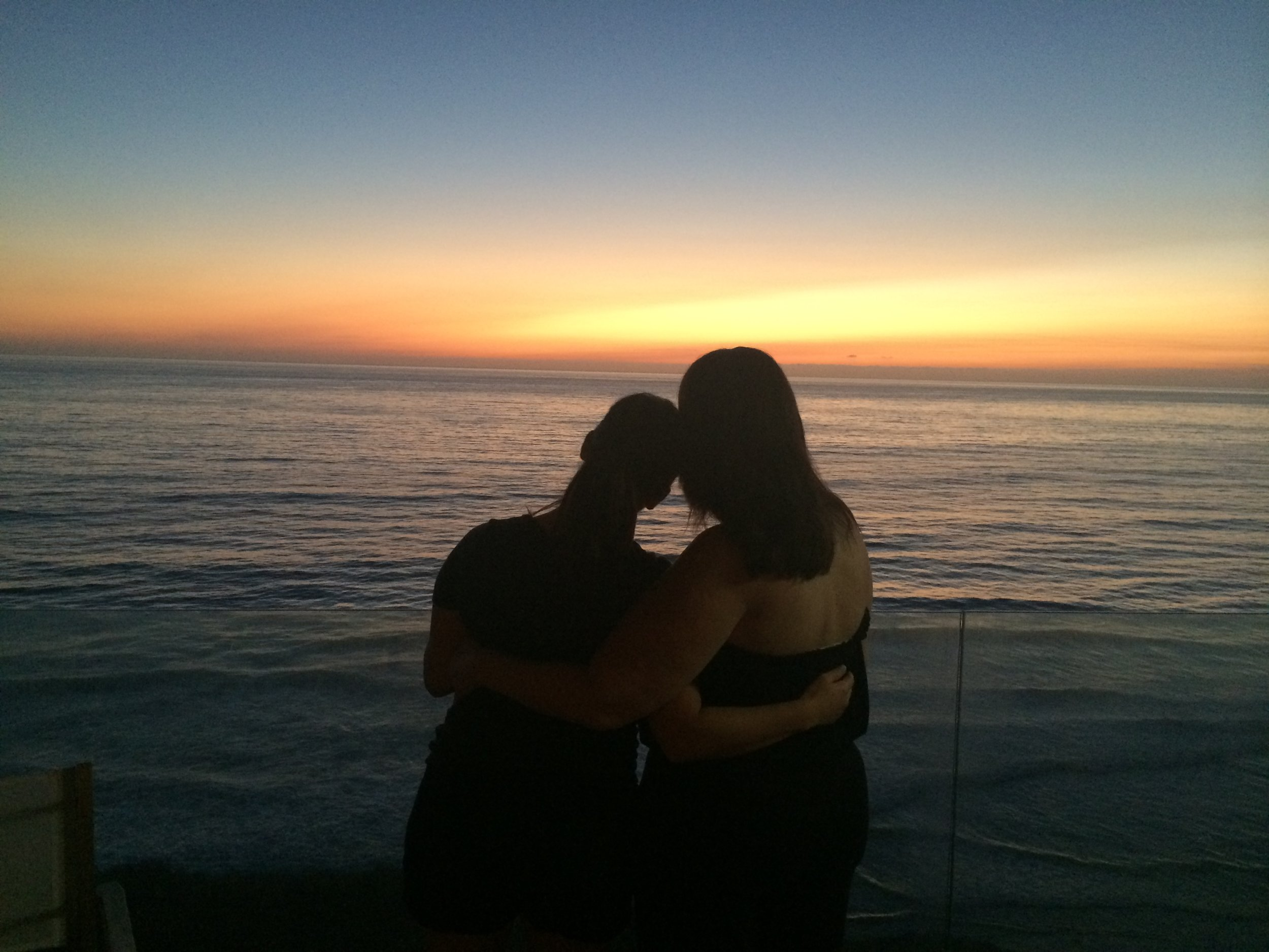 Mom and I during our annual mother-daughter vacation October 2014 in Solana Beach, Calif.,two weeks before we'd find out mom had Stage II breast cancer.