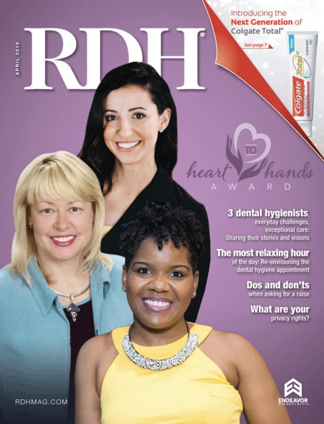 cover of RDH magazine april 2019