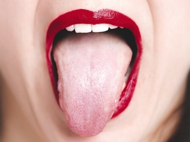 What does biting the inside of your mouth mean