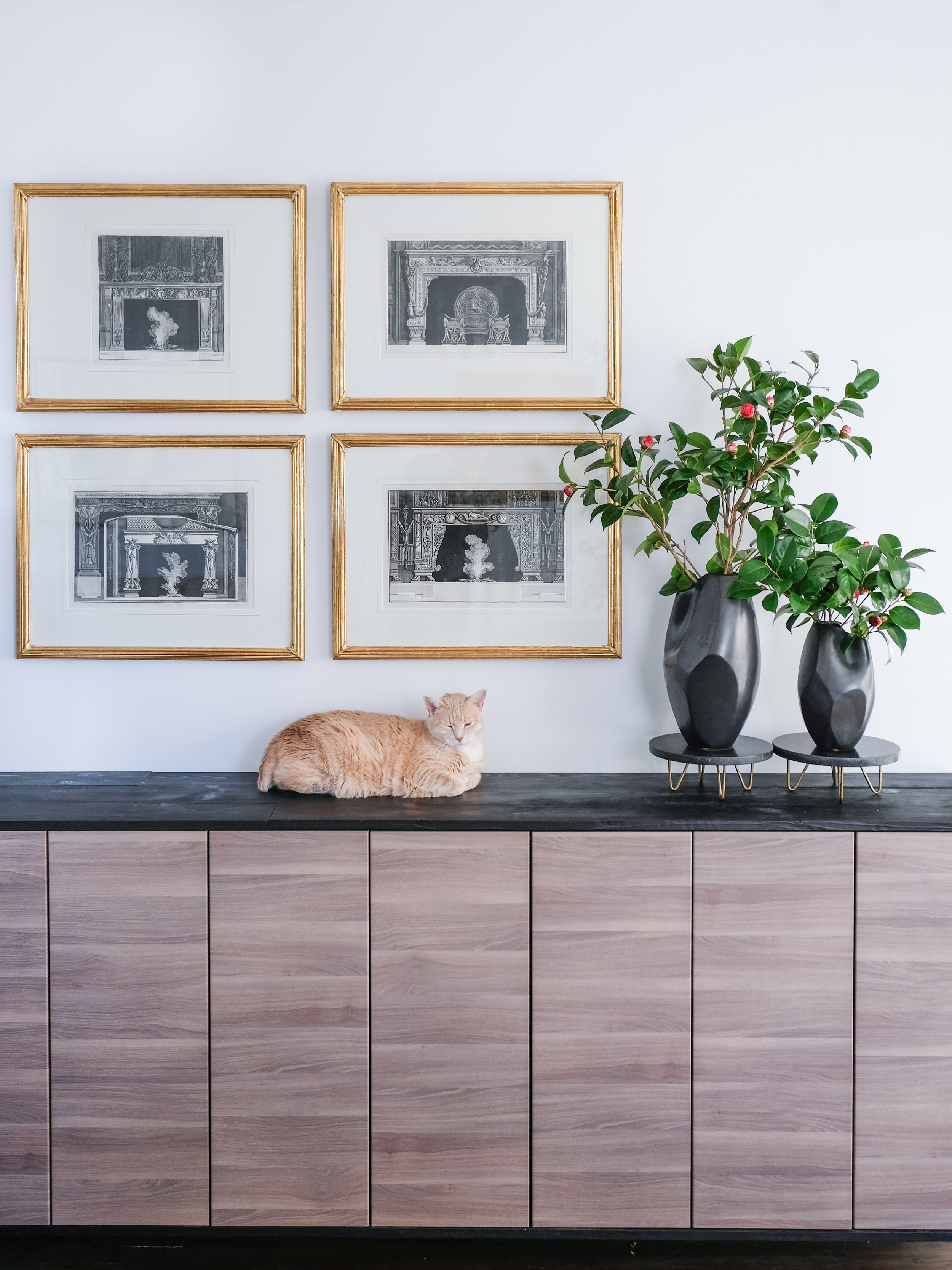 I love these black vases from West Elm (you can find them linked below).