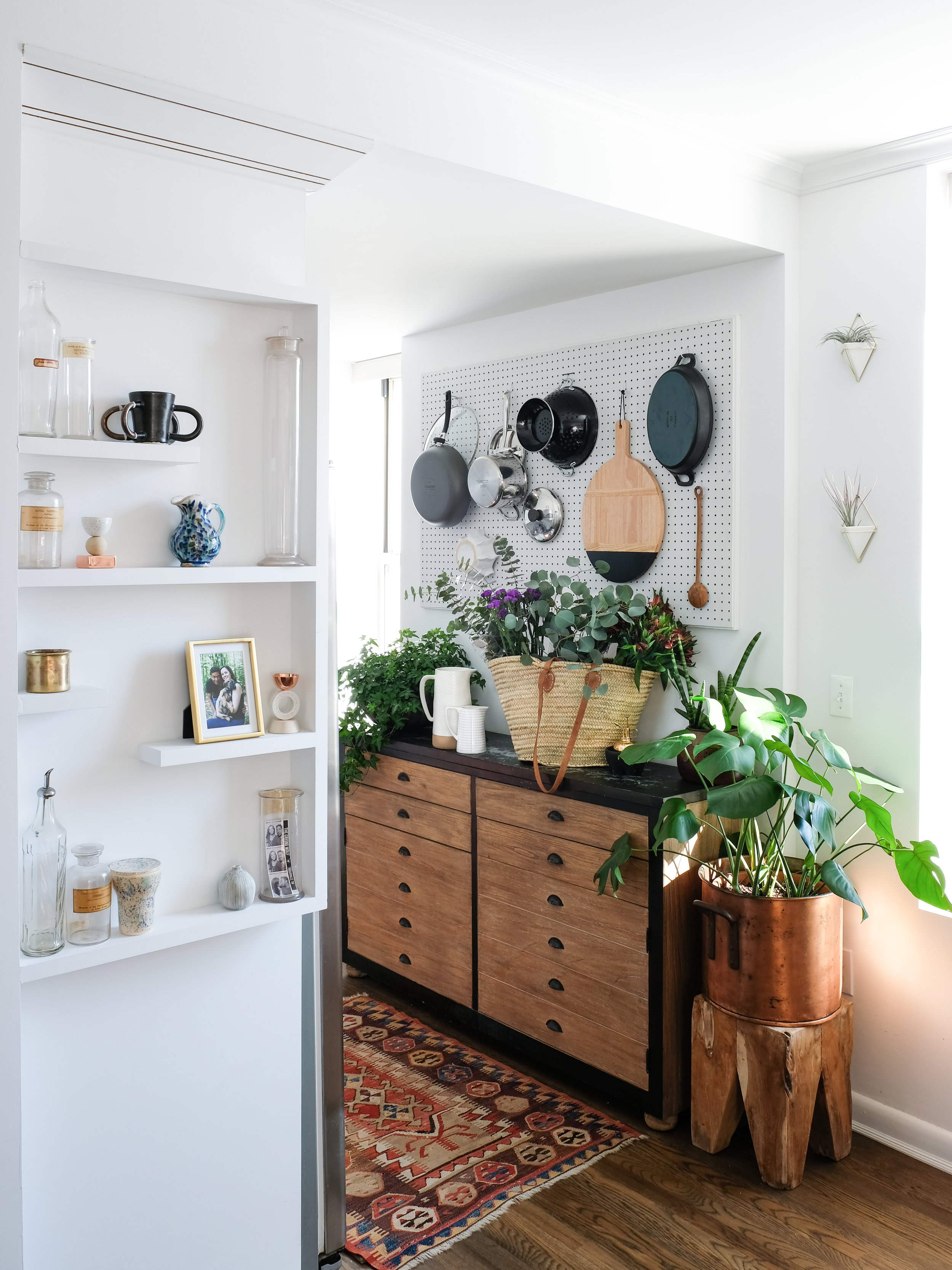 I not only decorate with plants, but lots of greenery as well!