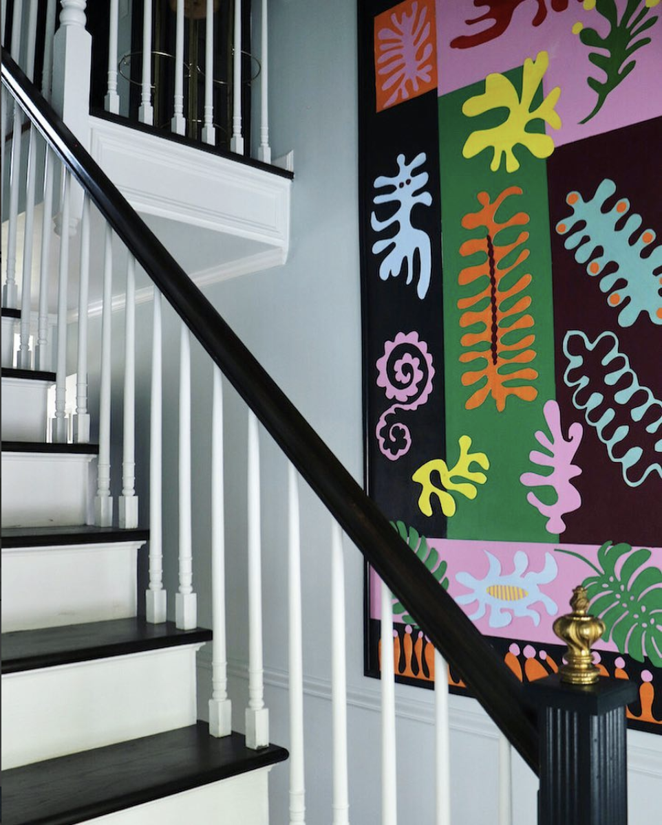 The amazing Natasha Habermann also included a Matisse-inspired mural in her ORC reveal! Source .