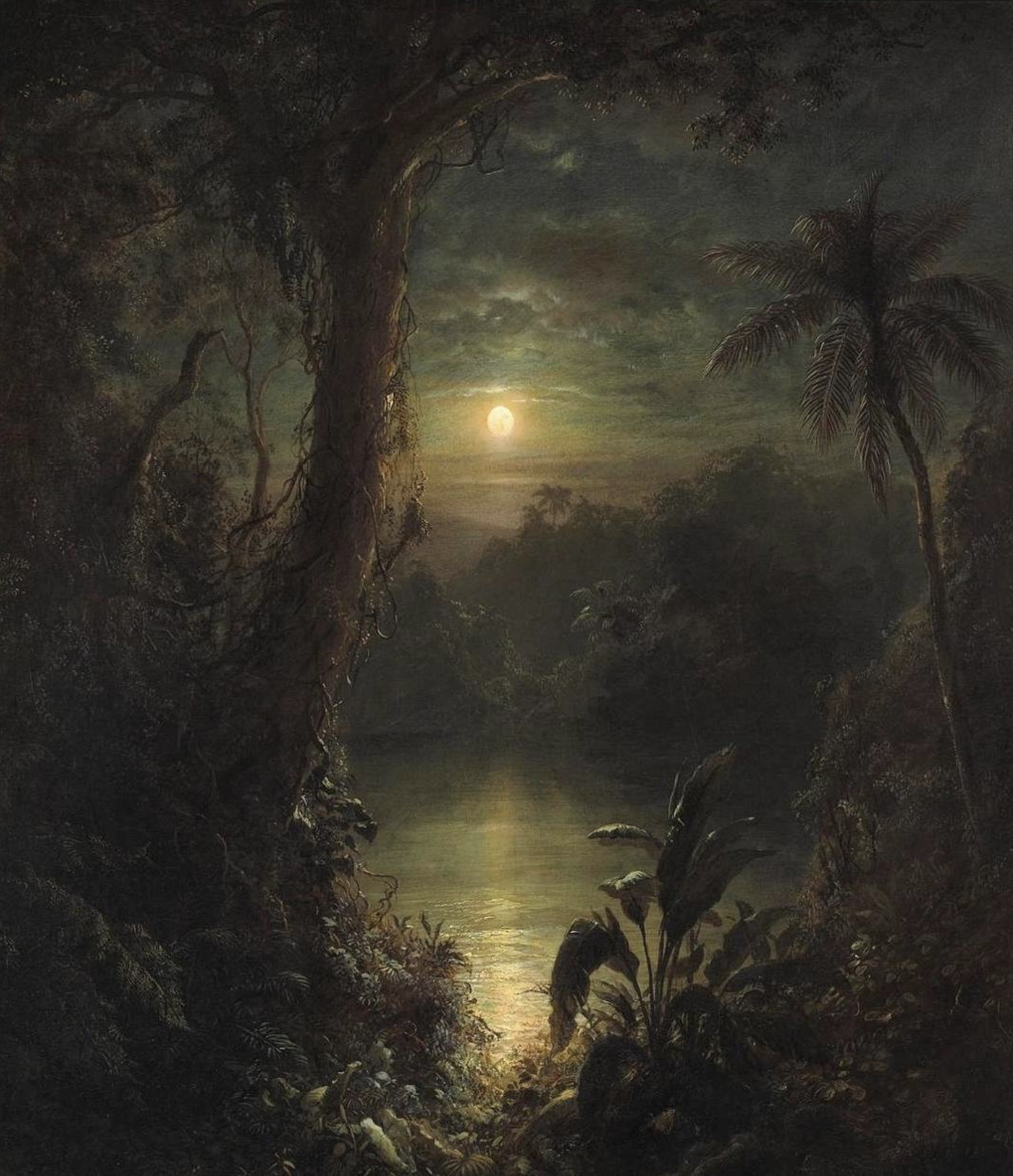 Source . @Moonarthistory is a recent favorite account of mine. If I had all the money in the world, one thing that I would collect would be vintage nightscape oil paintings. This account is full of them!