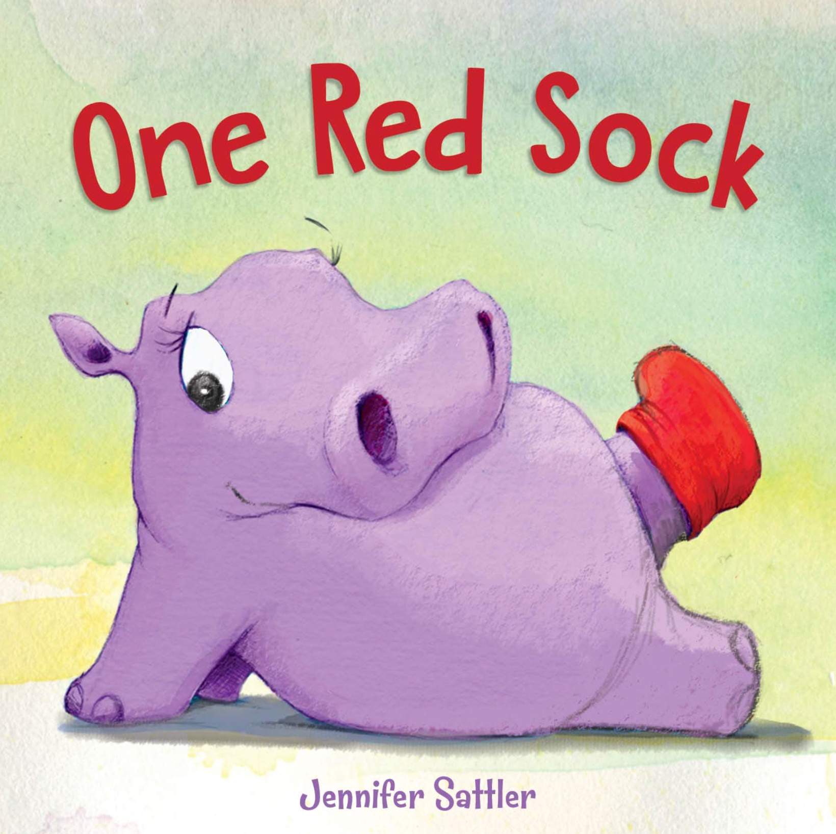 """Kirkus says: - """" 'Well, it's not perfect. / And it's definitely not red. // But at least it matches / my room!' she said."""" Young readers will survey the frustrated hippo's increasingly cluttered digs with glee…and likely be unsurprised to discover (once she's tottered off with a slipper on one foot and a spike heel on the other) that fugitive red sock crammed into a chair cushion  . . .  """"try, try again"""" with apparel choices (or anything else, for that matter) can lead to success, or at least some pleasant surprises, may inspire budding fashionistas to think outside the dresser drawer."""