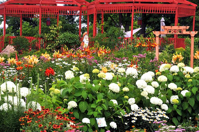 Jardin campagnard à Route des Gerbes d'Angelica