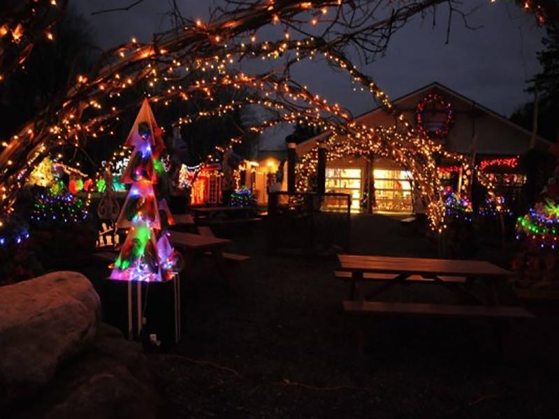 On range les déco et lumières de la féérie de Noël (nov-déc) et du carnaval de Luciö (fév-mars)