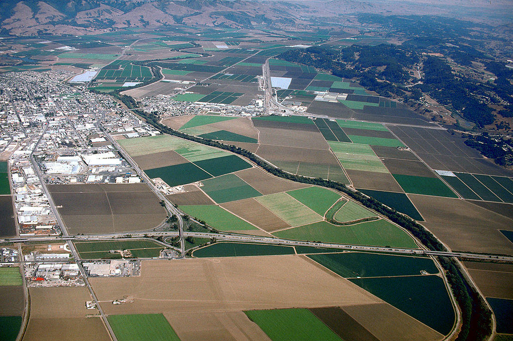 Northern California Agriculture Aerial View