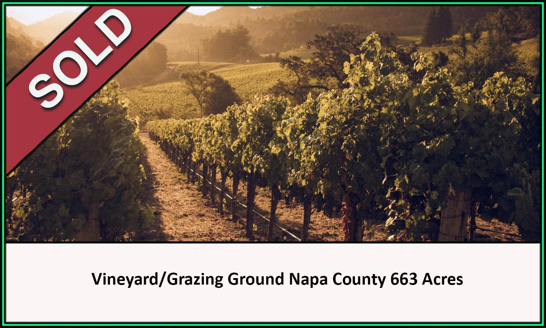 Napa County Vineyard Grazing Sold