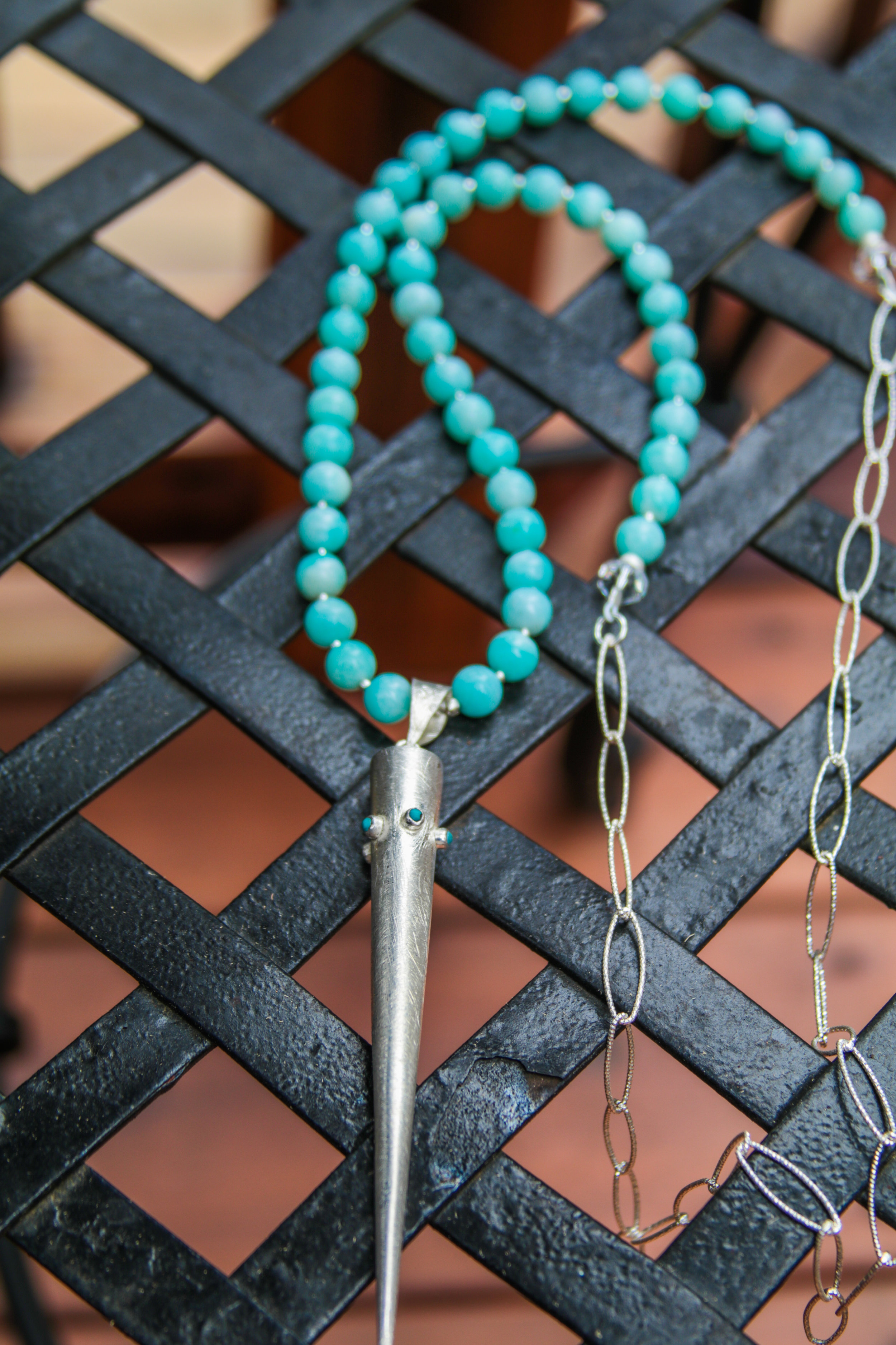Sterling Silver with Turquoise & Calcedony