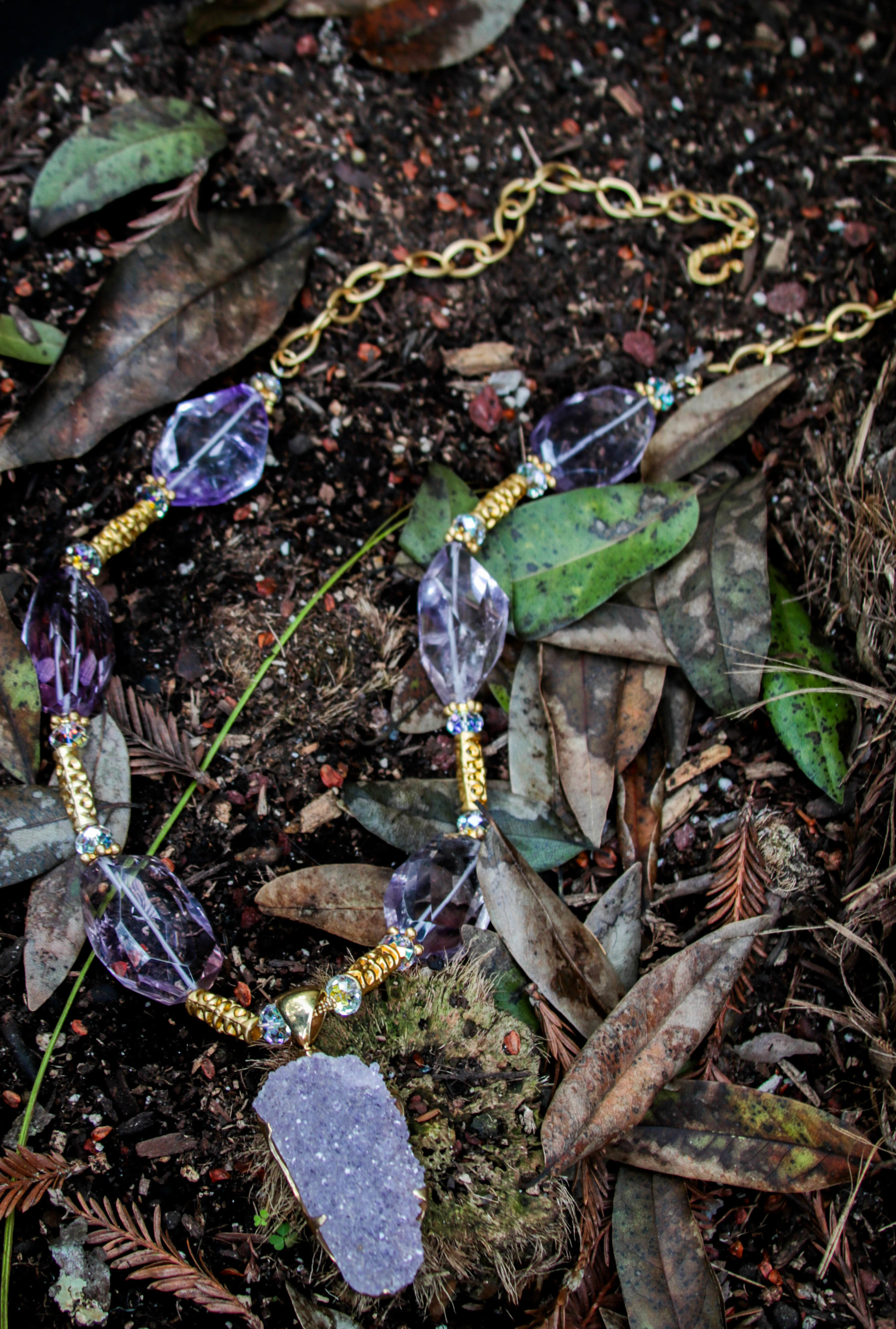 Lavender Amethyst and Gold Vermeil