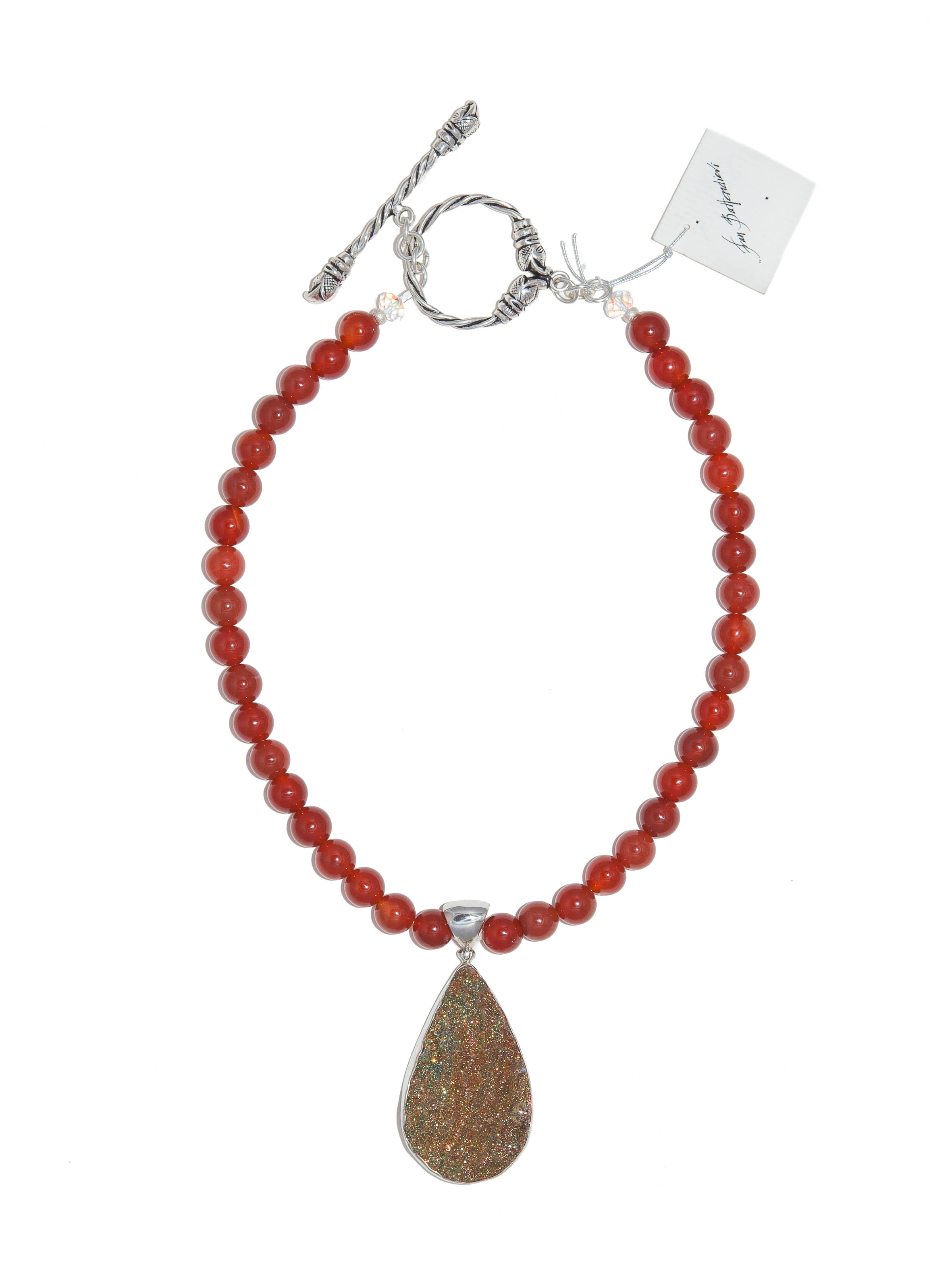 Carnelian Druze with Carnelian Beads