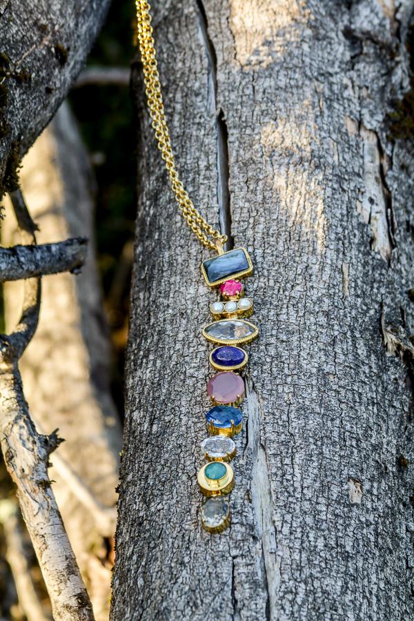 Labradorite, Rubilite, Pearls, Rose Quartz, Apatite