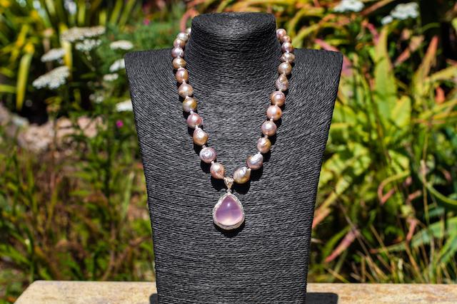 Rose Quartz and Baroque Sea Pearls