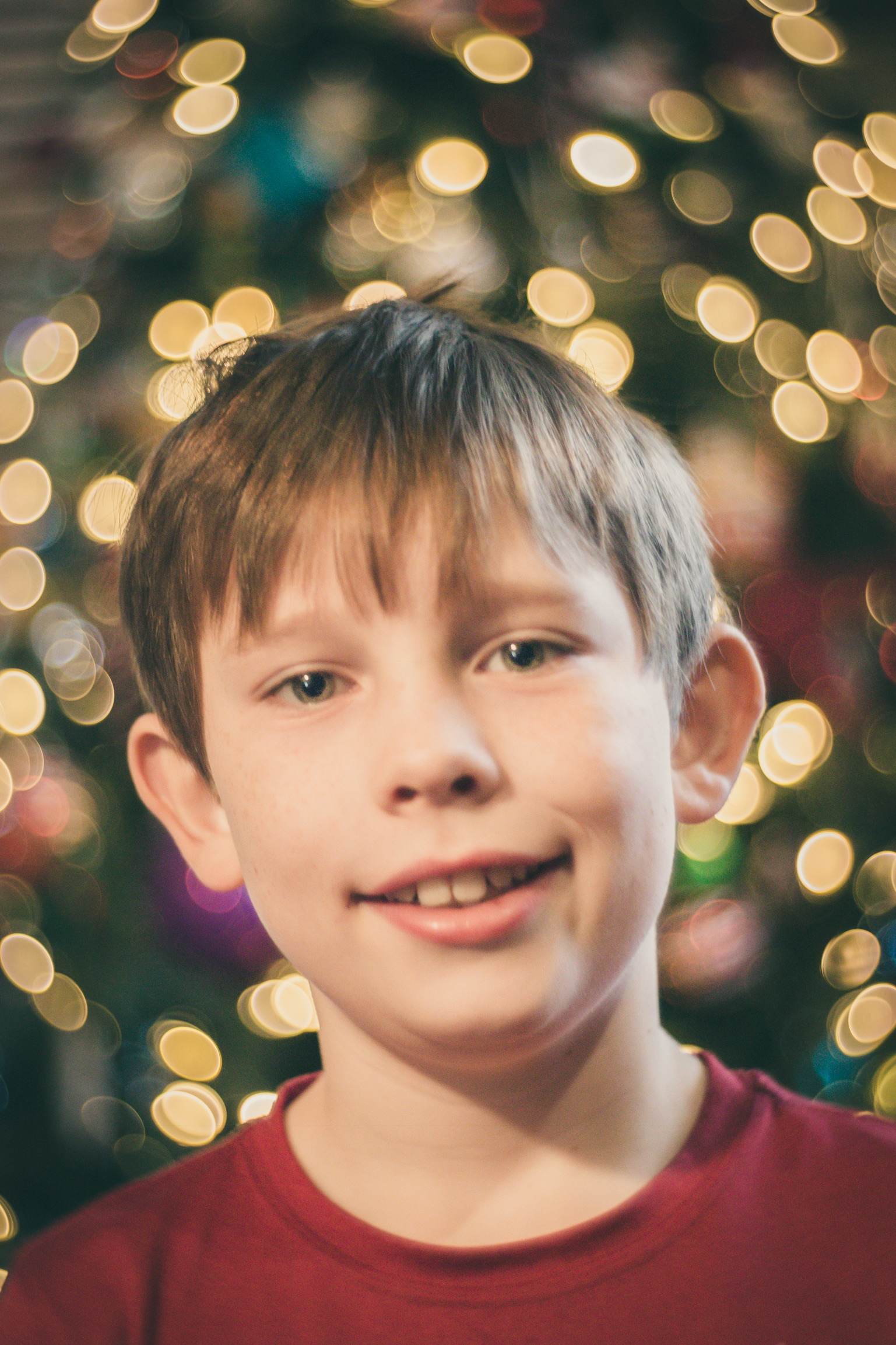 Will with Tree Lights in Background