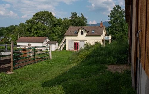 The Airbnb is located above the farm store on the tranquil Sugar House Creamery property.