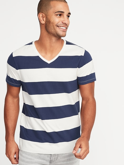 Stripes are too bold and too wide and distract from your face. © Old Navy