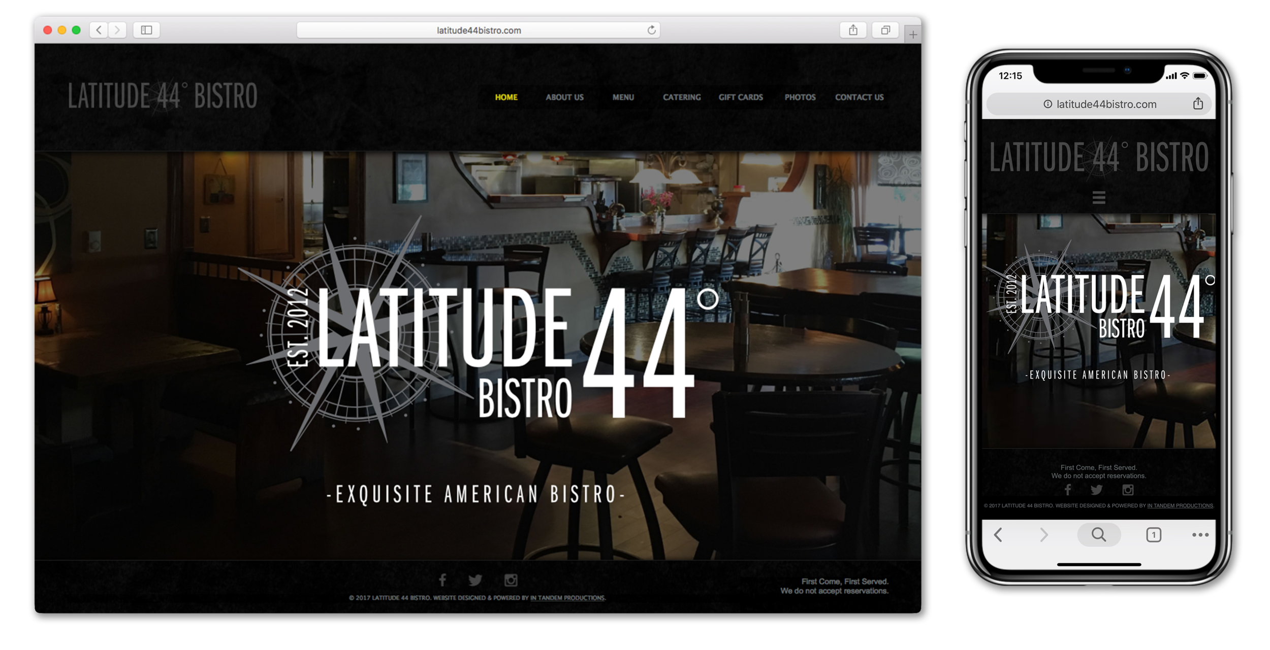 Latitude 44 Bistro Website